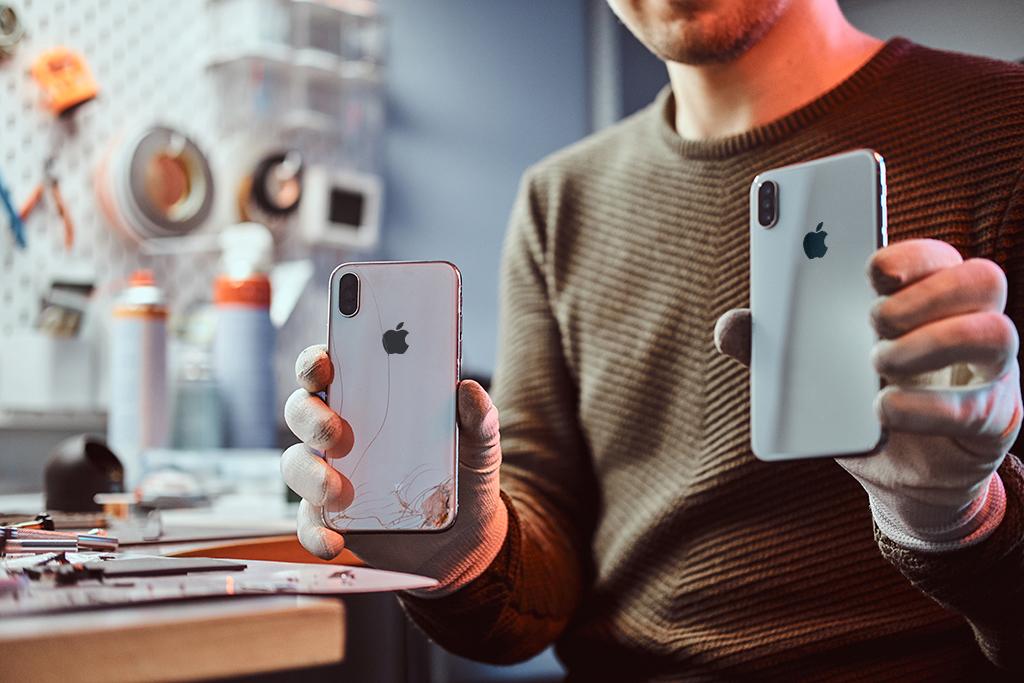 Wymiana szybki tylnej obudowy iPhone
